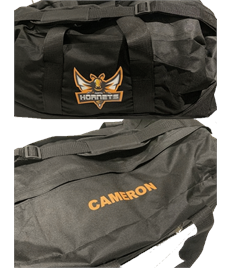 Hornets Branded Holdall (Complete With Name)