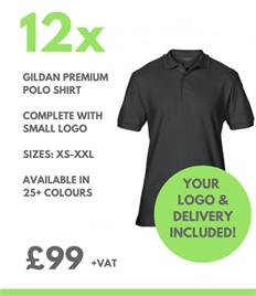 12 x Gildan Premium Polo Shirts