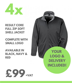 4 x Result Core Soft Shell Jacket