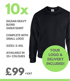 10 x Gildan Heavy Blend Sweatshirt