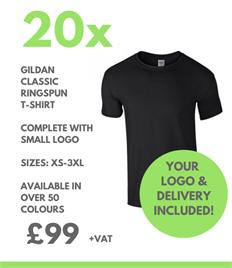 20 x Gildan Classic T-Shirts