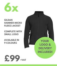6 x Gildan Micro Fleece Jacket
